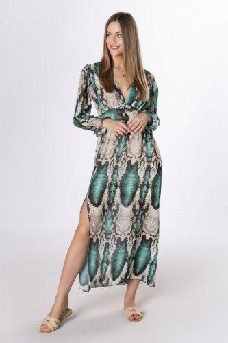 sukienka maxi z dekoltem V