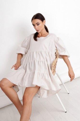 sukienka oversize z bufiastymi rękawami