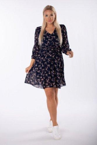 szyfonowa sukienka w kwiatowy print