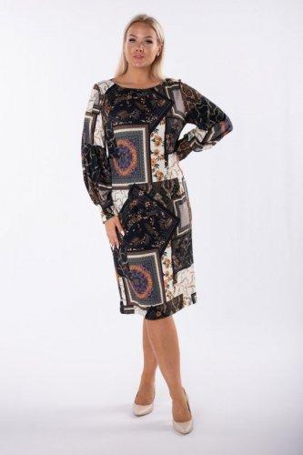 Taliowana sukienka midi
