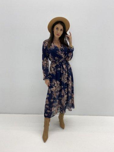 Kopertowa sukienka w kwiatowy print