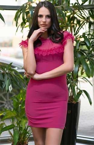 Sukienka amarantowa mini Scelin