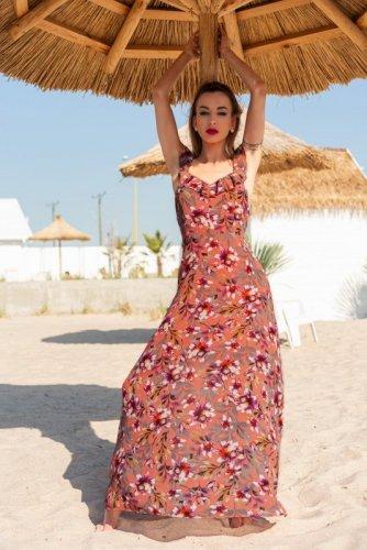 Sukienka Trina Kasztanowa