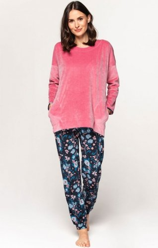 Ciepła piżama damska Cana 585 2XL