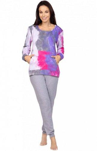 Piżama damska kolorowa Regina 979