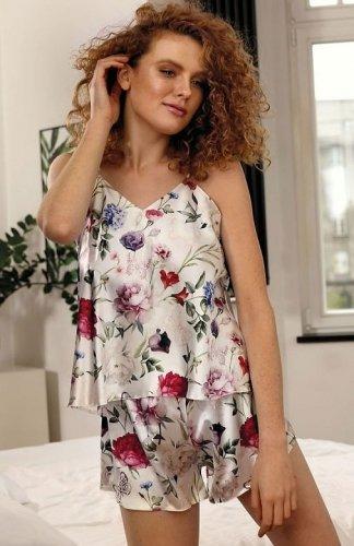 Piżama damska DKaren Flowers satynowa