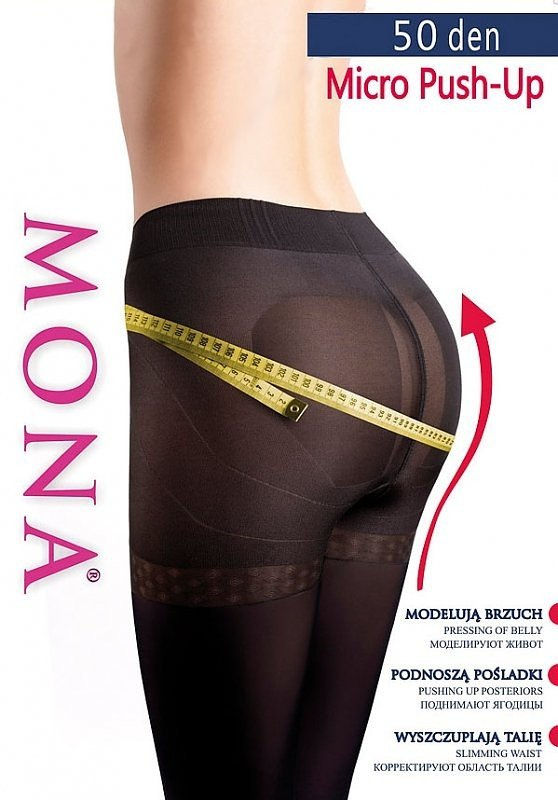 Rajstopy Mona Micro Push-Up 50 den 5-XL