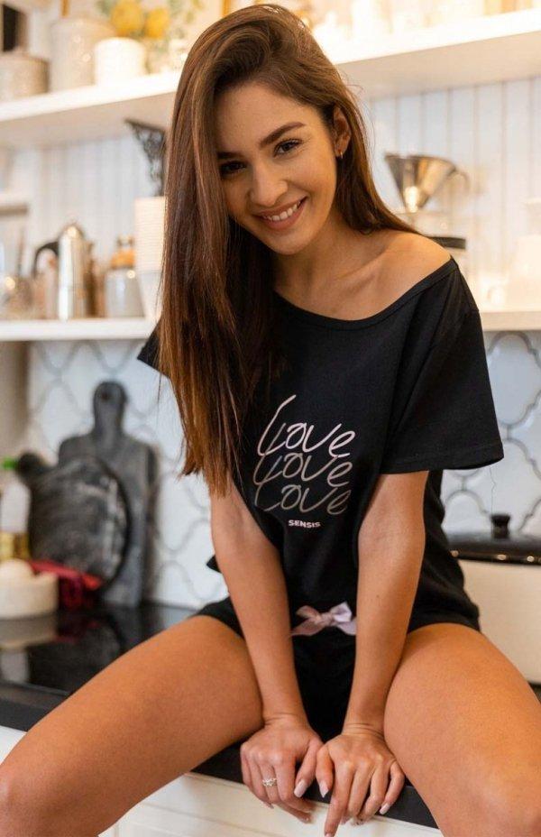 piżama sensis amparo czarna