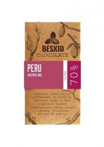 Czekolada ciemna 70% Peru, 60g, Beskid Chocolate