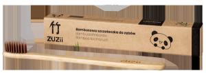 Bambusowa szczoteczka do zębów, miękka, brązowa, ZUZii