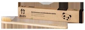 Bambusowa szczoteczka do zębów, miękka, beżowa, ZUZii