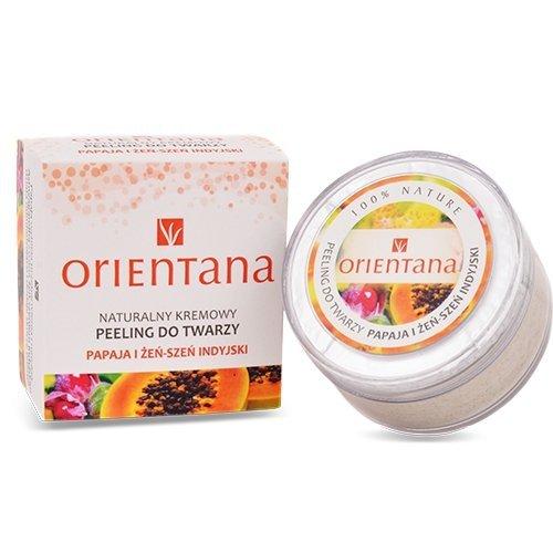Kremowy peeling do twarzy Orientana - Papaja i Zeńszeń 50g