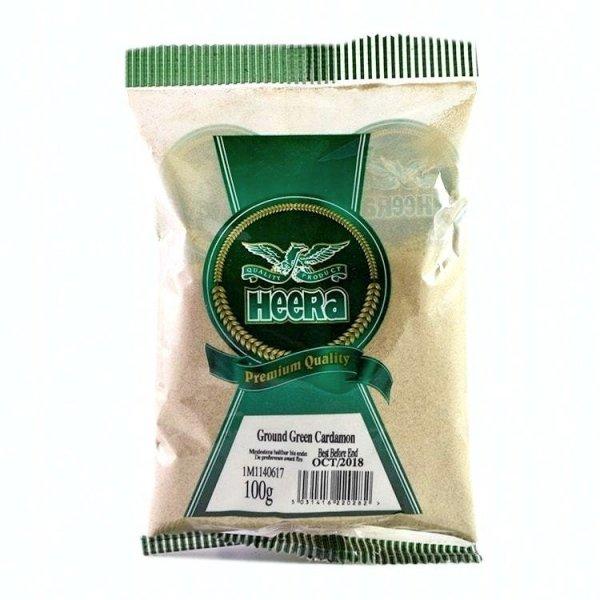 zielony kardamon w proszku, heera, 100g