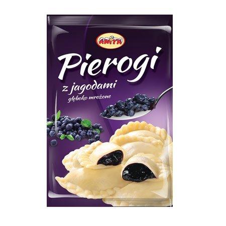 [ANITA] Pierogi z jagodami 500g/12szt