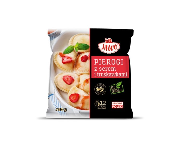 [JAWO] Pierogi z serem i truskawkami 450g po 10szt w kartonie