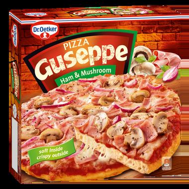 Guseppe Pizza z Szynką i Pieczarkami 425g 1x5