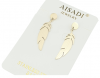 gold earrings made of stainless steel