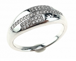 silver ring 18,00mm. Engagement xuping