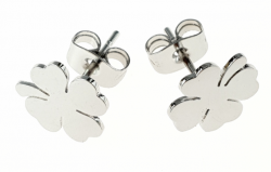 EARRINGS SILVER STAINLESS STEEL CELEBRITY