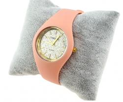 Women's golden rubber watch