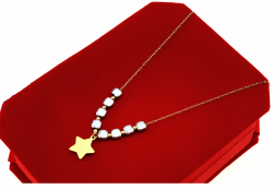 GOLDEN CHAIN CELEBRITY NECKLACE STAINLESS STEEL