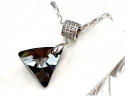 swarovski gold-plated necklace 18k white gold