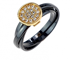 ring. 20,00mm porcelain. Stainless steel