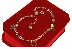 gold bracelet for a gold-plated leg