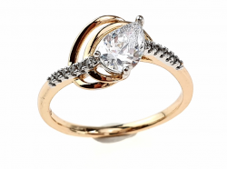 gold ring 17,30mm. gold-plated engagement xuping