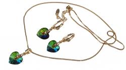 exclusive Swarovski set earrings chain pendant