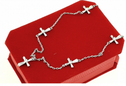 silver chain. gold-plated white gold xuping
