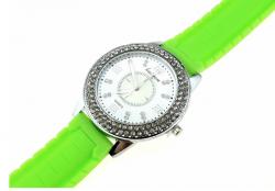 2183 Damski zegarek srebrny gumowy KURREN