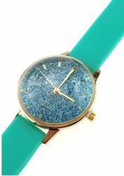 2129 Damski zegarek złoty gumowy KURREN