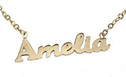 0203 ZŁOTA CELEBRYTKA Amelia NASZYJNIK STAL CHIRURGICZNA VIRINO