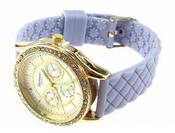 1663 Damski zegarek złoty gumowy KURREN