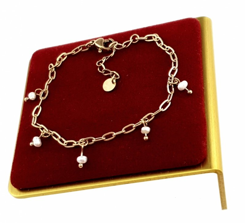 1568 Bransoletka złota 19cm celebrytka stal chirurgiczna