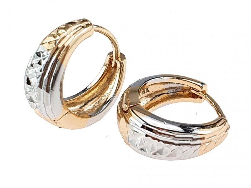 3121 Ekskluzywne kolczyki złote srebrne pozłacane