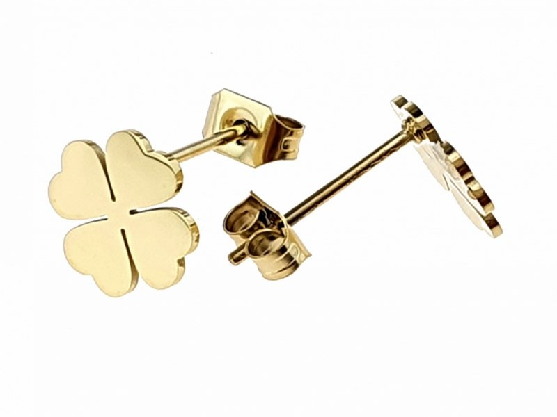979 Kolczyki celebrytki złote stal chirurgiczna