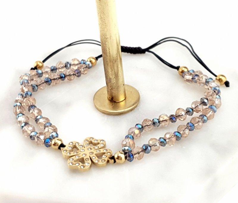 1194d Bransoletka złota celebrytka stal sznurek  chirurgiczna
