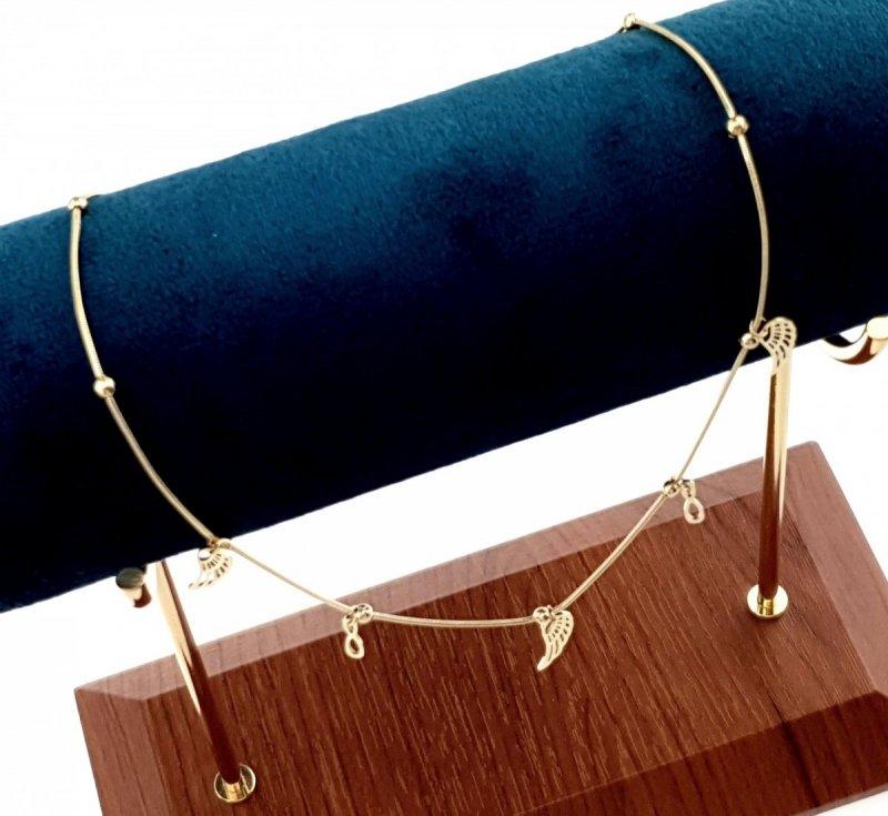 545 Złoty łańcuszek celebrytka naszyjnik stal chirurgiczna