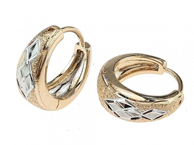3026 Ekskluzywne kolczyki złote srebrne pozłacane