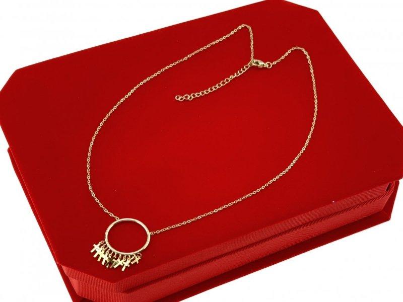 1549 Złoty łańcuszek celebrytka naszyjnik stal chirurgiczna