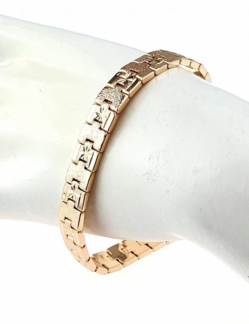 518 Bransoletka złota pozłacana 18k Xuping