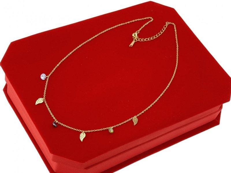 1275 Złoty łańcuszek celebrytka naszyjnik stal chirurgiczna