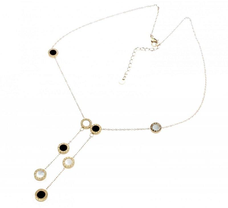 1668 Złoty łańcuszek celebrytka naszyjnik stal chirurgiczna