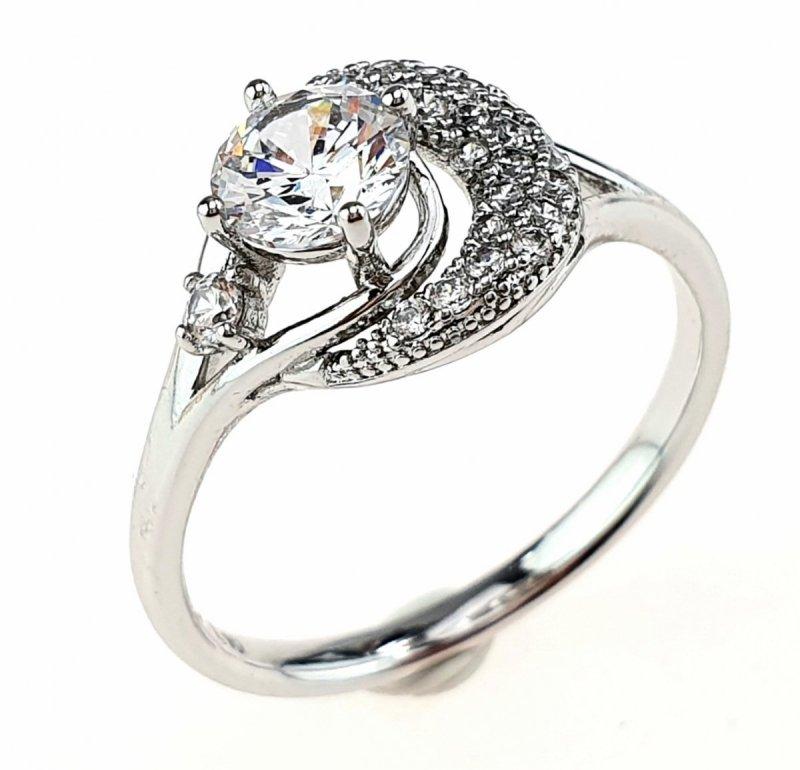 2332e Pierścionek 18,30mm srebrny zaręczynowy Xuping
