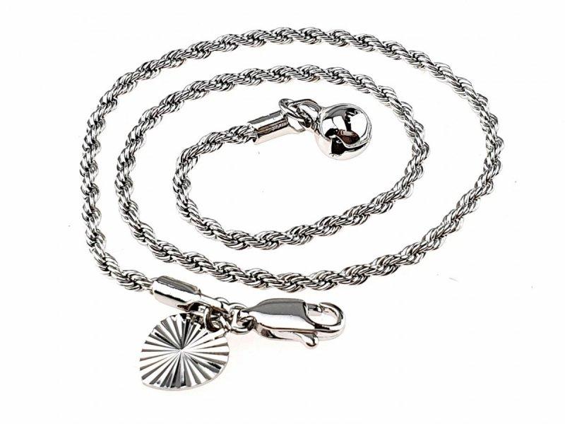 1121 Bransoletka na nogę kostkę srebrna posrebrzana Xuping