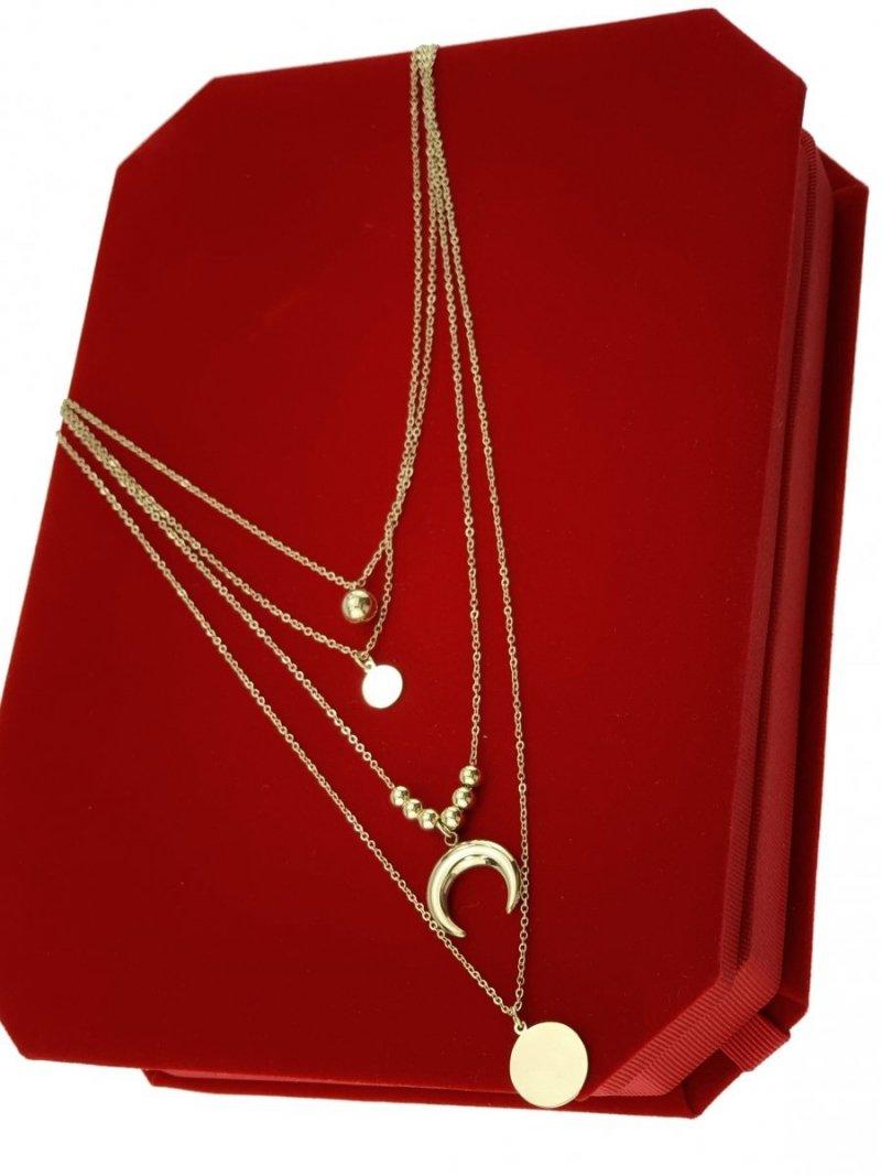 1824 Złoty łańcuszek celebrytka naszyjnik stal chirurgiczna