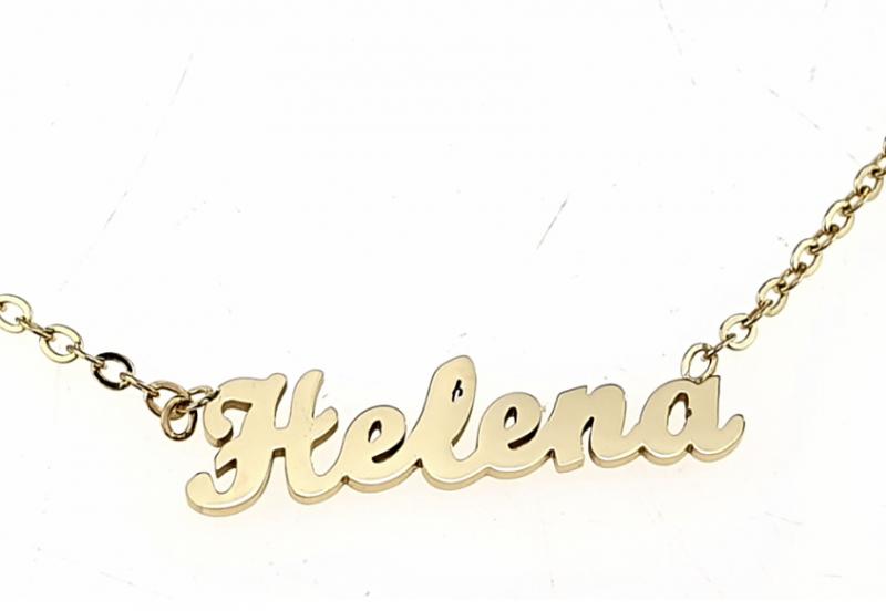 0196 Złoty łańcuszek celebrytka Helena naszyjnik stal chirurgiczna