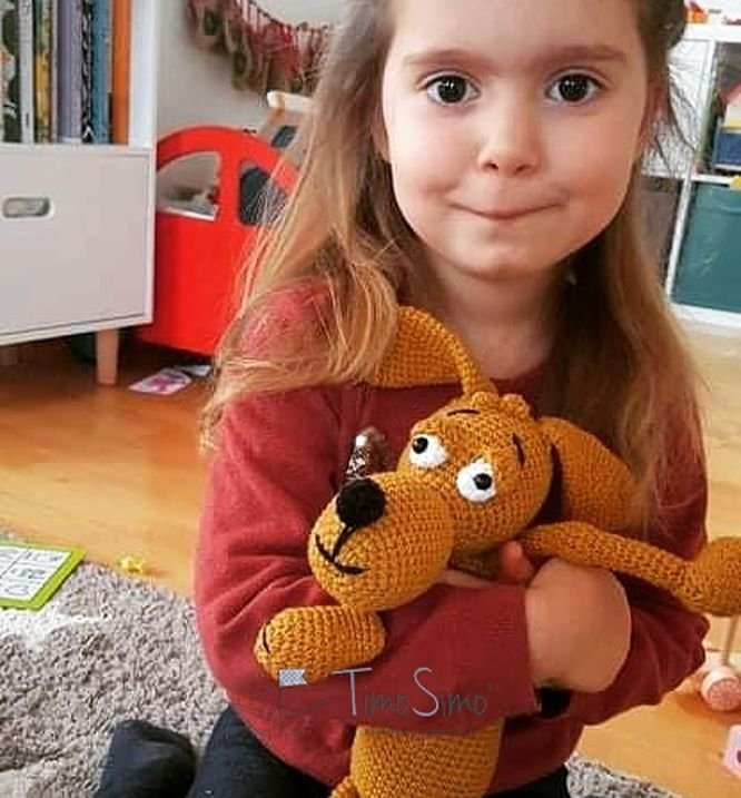 Crochet cuddly dog Julian